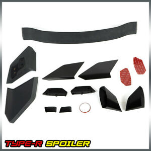 For 16 Up Honda Civic Fk7 Hatchback Type R Style Jdm Rear Trunk Lip Wing Spoiler