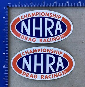 2 New Official Nhra Championship Drag Racing Decals Stickers Funny Car Top Fuel