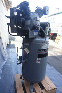 Ingersoll rand T30 Air Compressor 7 5 Hp 80 Gallon Vertical Tank 200 Psi