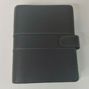 Franklin Covey Black Classic 7 Ring Magnetic Snap Closure Binder With Inserts