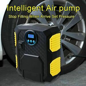 Portable 12v 300psi Electric Car Tyre Auto Tire Inflator Pump Air Compressor New