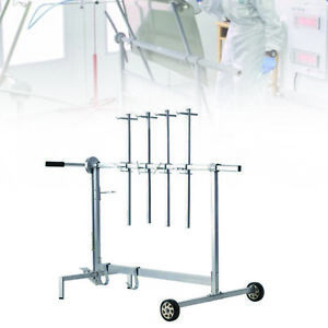 Air Gun Auto Spray Painting Rack Stand Auto Body Shop Paint Booth Hood Parts Usa