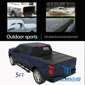 Fit For 2019 2020 2021 Ford Ranger Tonneau Cover 5 Hard Tri Fold Truck Bed