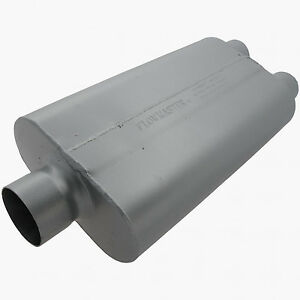 Flowmaster 50 Series Delta Flow Muffler 3 Center Inlet 2 5 Dual Outlet 9430502