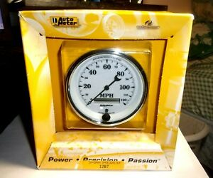 Autometer 1287 Old Tyme White Ii 3 3 8 Programmable Speedometer Gauge 0 120mph