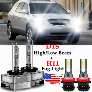 For Buick Enclave 2008 2012 Led Hid Headlight Hi Lo Beam Fog Light Bulb Qty Of 4