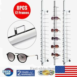 8 X Sunglasses Eyeglass Glasses Frame Rack Display Stand Organizer Show Holder