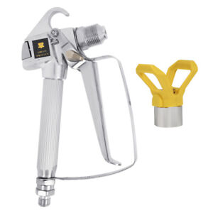 Airless Paint Spray Gun W Tip Guard For Titan Wagner Painting Sprayer 3600psi