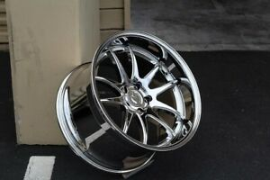 Set 4 Staggered Aodhan Wheels Ds02 19x9 5 11 5x114 3 22 Vacuum Chrome