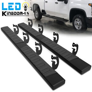 Running Boards For 09 14 Ford F 150 Super Crew Cab 6 Nerf Bars Side Steps Blk