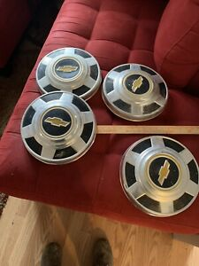 Original Oem Set Of 1973 1987 Chevrolet 3 4 Ton Truck 12 Dog Dish Hubcaps C20