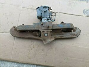 Chevy Chevrolet 230 250 292 Intake Exhaust Manifold W Carb Heat Riser Works