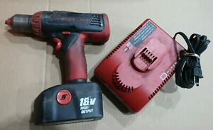 Snap On 1 2 Cordless Driver drill 18v Cdr4850 W Battery Charger g34