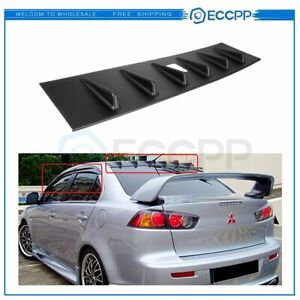 For 2008 2016 Mitsubishi Lancer Rear Shark Fin Mr Vortex Spoiler Wing Steady