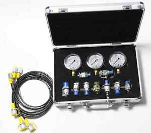 9 In 1 Xztk 60m Hydraulic Pressure Test Kit For Excavator pressure Guage