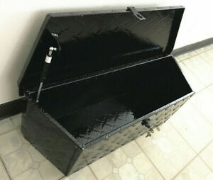 35 Aluminum Trailer Tongue Tool Box Storage Black 35 l X 12 h X 12 d New