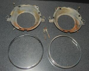 Alfa Romeo Gtv6 Oem Carello Headlight Bucket Trim Ring Bezel Pair Left Right Low