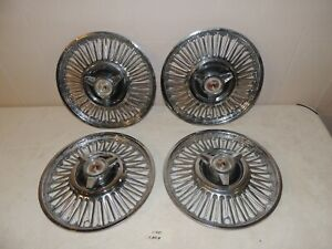 1964 1966 Ford Mustang Falcon Fairline Hub Caps 13 Inch Oem
