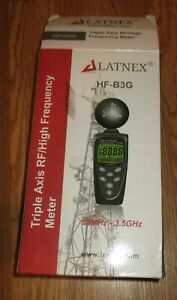 New In Box Triple Axis Rf high Frequency Meter Hf b3g By Latnex