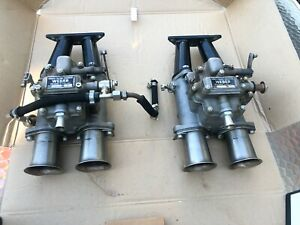 Rare Twin Sand Cast 38 Dco 3 Weber Carburetors Lotus Xi Le Mans Ferrari