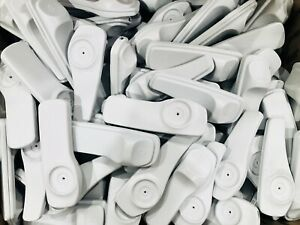 200 Sensormatic Supertag Security Tags With Pin Original Eas White 58khz
