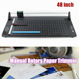 Precision 48 Inch 130cm Manual Rotary Paper Trimmer Sharp Photo Paper Cutter