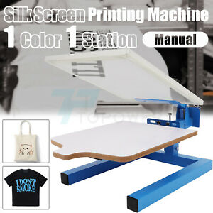 1 Station Silk Screen Printing Machine Diy T shirt Press Printer Single Color