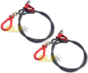 Qty 2 Of Usa Built 6 3 link Logging Choker Cable With Clevis Ring 9 16 Cable