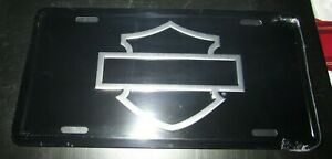 Harley Davidson Logo Silhouette Authentic License Plate Made In Usa Licensed