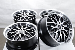 17 Wheels Audi A3 A4 Mercedes E320 E350 Vw Beetle Gti Jetta Passat Black Rims