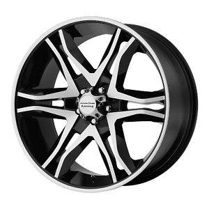 6x139 7 17 Inch 4 Wheels Rims American Racing Ar893 17x8 25mm Black Mach