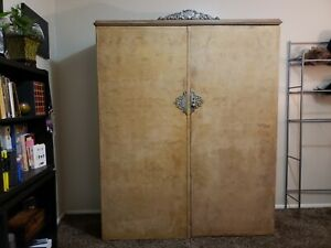 Antique Art Deco Armoire Wardrobe 1920 S