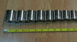 Made In Usa Craftsman 1 2 Drive Large Metric Socket Set 23mm 32mm 8pc New