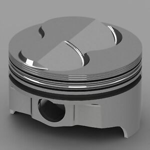 Icon Forged Piston Set Fits Chevy 327 Rod 6 000 Solid Dome 6 3cc 2v