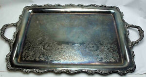 Vintage Wilcox International Silver 7391 American Rose Serving Tray 15 X 20