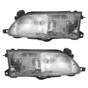 P Fits For Corolla 1993 1994 1995 1996 1997 Headlights Right Left Pair Set
