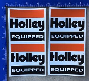 Lot Of 4 Holley Equipped Racing Decals Stickers New Original Double Pumper Nhra