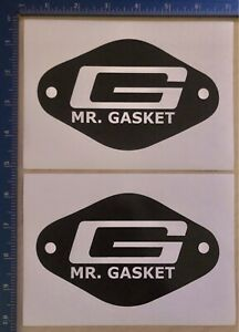 2 New Mr Gasket Racing Decals Stickers New Original Rare Nhra Nascar Goodguys