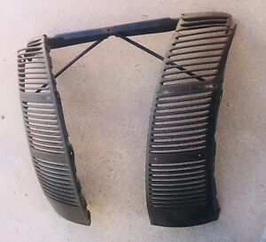 1940 Ford Deluxe Grille Vent Panels Brace All Original