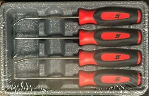New Snap On Pick Set Sgasa204cr Red Soft Handles Picks Brand New Sealed
