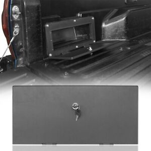 For 05 21 Toyota Tacoma Rear Driver Side Bed Storage Box Steel Cover Lockable