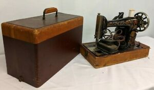 Antique 1910 Singer Electric Sewing Machine G4027228 With Attached Light Pedal