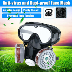 Protection Emergency Gas Mask Respirator Filter Chemical Safety Goggles Military