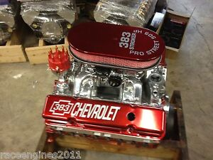 383 Stroker Motor 501hp Roller Prostret Chevy Crate Engine New Gm 4 Bolt Block