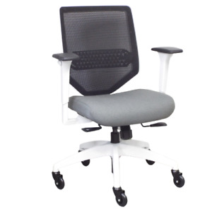 Union Scale Lewis Charcoal Mesh Back Computer Desk Chair W Adjustable Lumbar