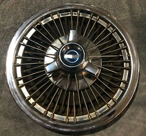 1966 67 Ford Passenger Car Galaxie 15 Wire Spoke Spinner Hubcap