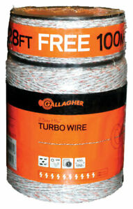 Gallagher G620564 White Nine Mixed Metal Strands Electric Fence Wire 1612 Ft