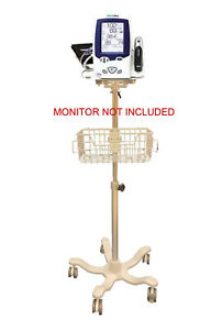 Rolling Stand For Welch Allyn Lxi Spot Monitor New 401 Big Wheel