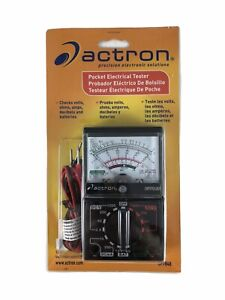Pocket Electrical Tester Actron Model Cp7848 Battery Operated New Sealed