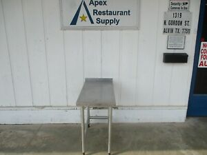 All Stainless Table With 1 1 2 Backsplash 18 X 36 X 32 5607